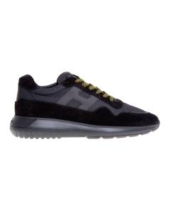 Sneaker hogan interactive³ in camoscio e tessuto tecnico  Nero