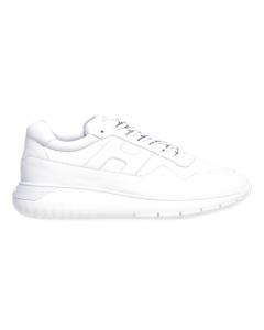 Sneaker Hogan Interactive³ in nappa con lacci logati Bianco