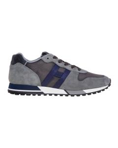 Sneaker hogan h383 in camoscio e tessuto tecnico  Grigio - Blu