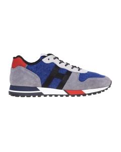 Sneaker Hogan H383 in camoscio e canvas Grigio - Bluette