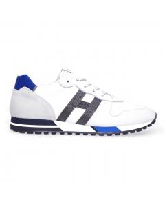 Sneaker Hogan H383 in nabuk e tessuto Bianco