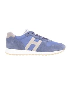 Sneaker Hogan in camoscio e tessuto Avio - Beige