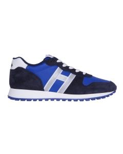 Sneaker running hogan in camoscio e tessuto  Blu - Bluette