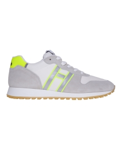 Sneaker running hogan in camoscio e tessuto Bianco - G. Fluo