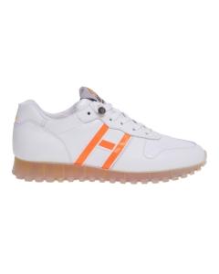 Sneaker hogan h452 in pelle e vernice metal  Nero