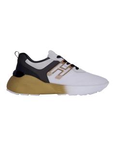 Sneaker hogan active one in tessuto tecnico e camoscio Grigio - Oro
