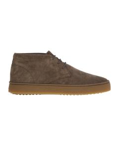 Sneaker alta hogan in camoscio con suola color caramello Taupe