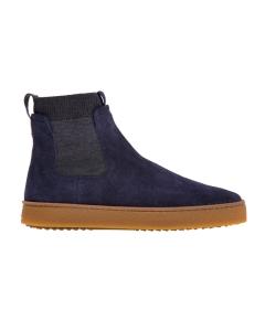 Sneaker hogan h476 in camoscio blu con calza elasticizzata Grigio