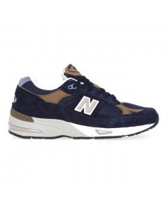 Sneaker New Balance 991 in camoscio e tessuto Blu
