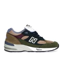 Sneaker new balance 991 in nabuck e camoscio  Verde