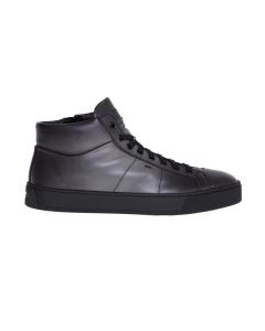 Sneaker santoni in pelle tamponata  Antracite
