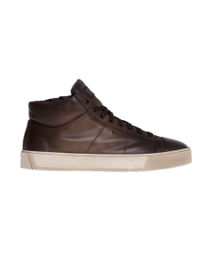 Sneaker Santoni in pelle tamponata  Marrone