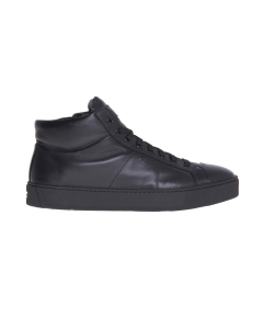 Sneaker santoni in pelle tamponata  Nero