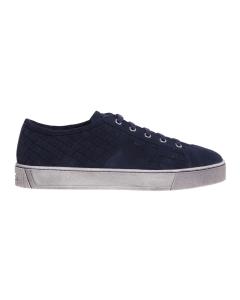 Sneaker santoni in camoscio intrecciato  Blu