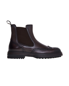 Chelsea boot santoni in pelle bottalata Testa D.m.