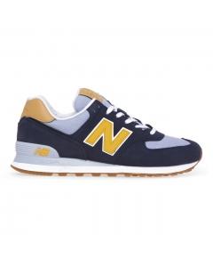 Sneaker New Balance 574 in camoscio e tessuto Blu