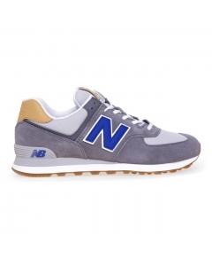 Sneaker New Balance 574 in camoscio e tessuto Grigio