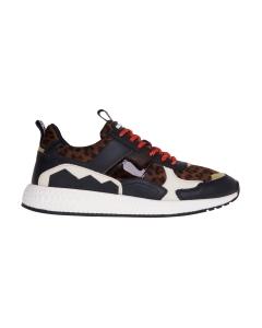 Sneaker moa - master of arts in pelle e camoscio leopardato Leopardato