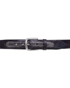 Cintura Minoronzoni in pelle con borchie Nero