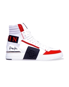 Sneaker philipp plein phantom kick$ hi top Bianco