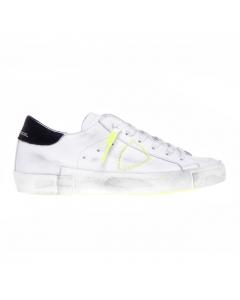 Sneaker Philippe Model PRSX Broderie Neon in pelle Bianco