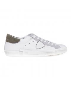 Sneaker Philippe Model PRSX Mixage Pop in pelle e camoscio Bianco