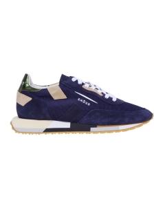 "Sneaker Ghoud ""Rush"" in camoscio e tessuto Blu / Military"