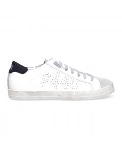 "Sneaker P448 ""john"" in pelle Bianco - Nero (whi/gblk)"
