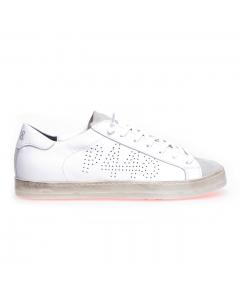 "Sneaker P448 ""john"" in pelle  Bianco (whi/ora)"