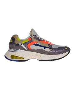 "Sneaker premiata ""sharky"" in pelle. Multicolor"