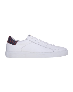 Sneaker hide & jack in pelle con talloncino cocco bicolore Bianco