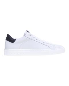 Sneaker Hide & Jack in pelle con talloncino in cocco Bianco