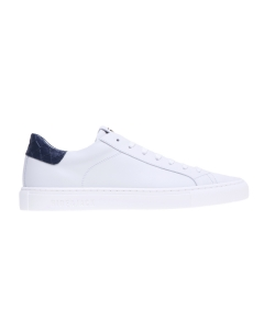 Sneaker Hide & Jack in pelle con talloncino stampa cocco  Bianco