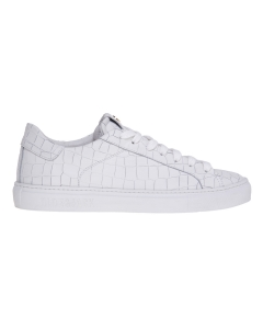 Sneaker hide & jack in pelle stampa cocco  Bianco