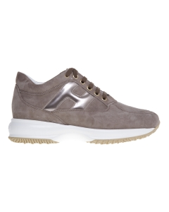Sneaker hogan interactive in camoscio taupe Taupe