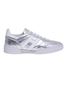 Sneaker hogan h357 in pelle laminata argento Argento