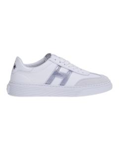 Sneaker hogan h365 in pelle e camoscio con h in gel Bianco