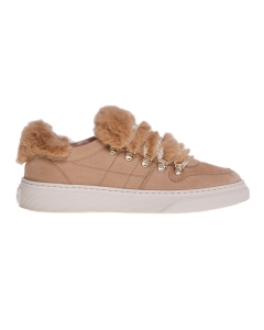 Sneaker hogan h365 in nabuk con inserti in ecopelliccia Camel