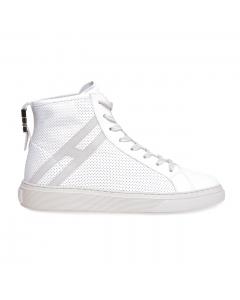 Sneaker Hogan Hi-Top in pelle forata  Bianco
