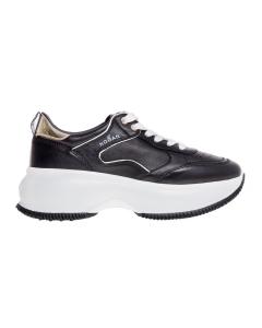 Sneaker hogan maxi i active in pelle nera Nero