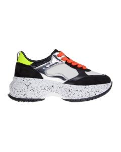 Sneaker hogan maxi i active in camoscio e tessuto multicolor  Nero - Bianco