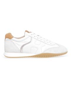 Sneaker Hogan Olympia-Z in pelle e camoscio Bianco - Beige