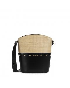 Furla Share mini buchet bag Deserto + Nero