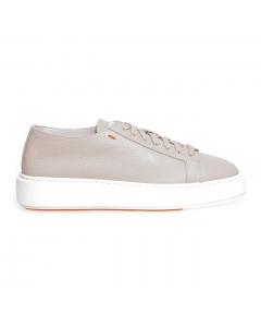 """Sneaker Santoni """"Cleanic"""" in pelle  Beige"""