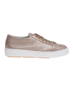 Sneaker santoni in pelle bottalata laminata Oro