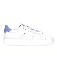 """Sneaker Santoni """"wide"""" in pelle Bianco - Carta Zucch."""