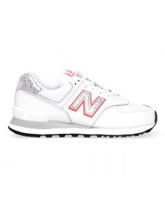 Sneaker New Balance 574 in pelle  Bianco