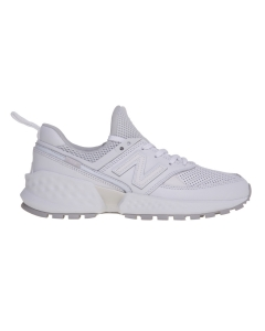 Ginnica new balance 574 s in pelle forata Bianco