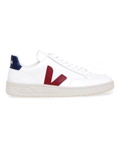 Sneaker VEJA V-12 in pelle  Bianco - Bordeaux - Blu