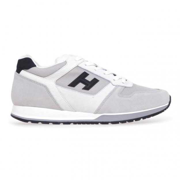 Sneakers Hogan H321 in camoscio e tessuto Bianco 6